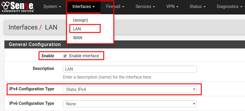 Interfaces-LAN