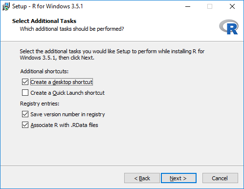 Select Additional Tasks